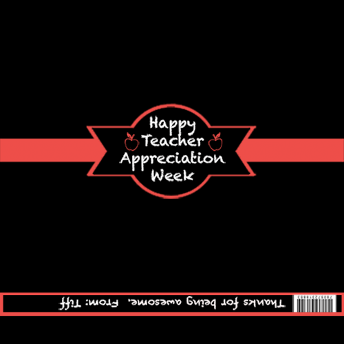 Appreciation Candy Bar Wrapper