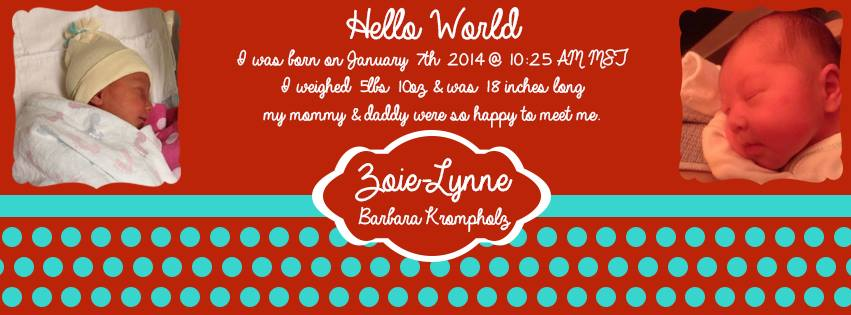 Birth Announcement Banner