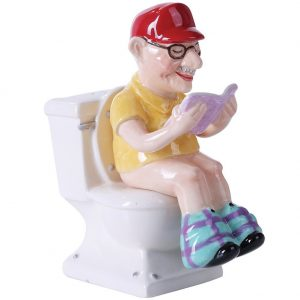 Reading Grandpa on Toilet