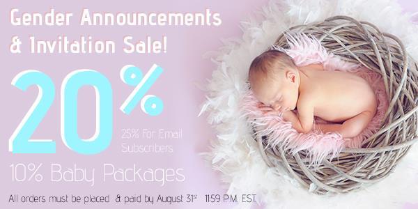 Gender Announcement Sale