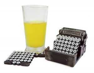 Typewriter Button Coasters