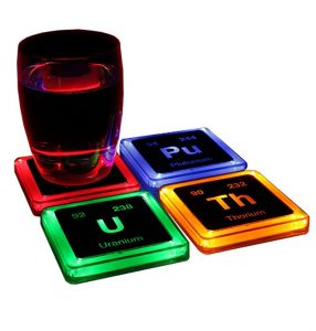 Radioactive Elements Glowing Coaster