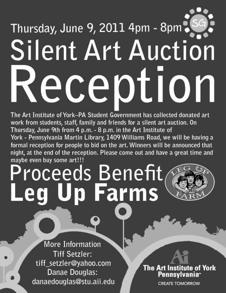 Silent Auction Reception Flyer