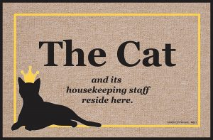 Cat Housekeeping Staff - Door Mat
