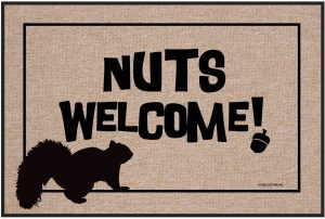 Nuts Welcome - Door Mat