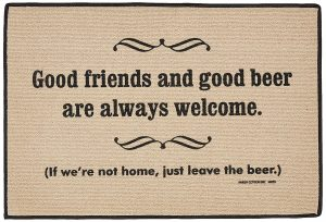 Good Friends Good Beer! - Door Mat