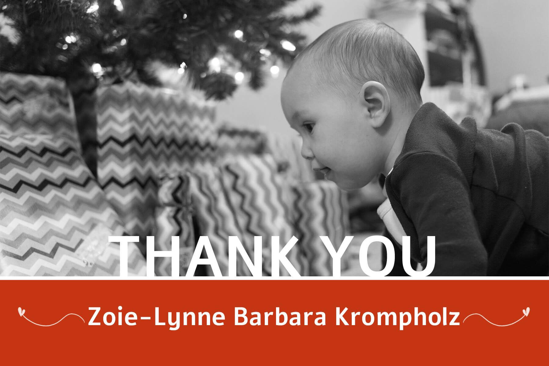 Baby Krompholz Thank You Card