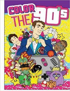 Color the 90s Adult Coloring Book