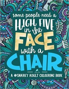 Some People Need a High-Five, In the Face, With a Chair Adult Coloring Book