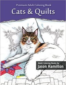 Cats & Quilts Adult Coloring Book
