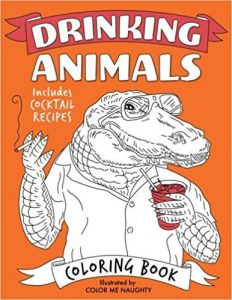 Drinking Animals Adult Coloring Book
