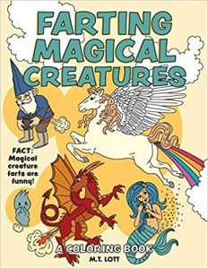 Farting Magical Creatures Adult Coloring Book