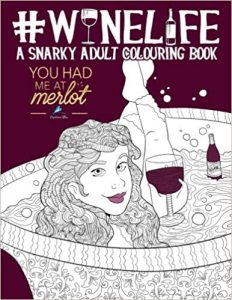 Wine Life Adult Coloring Book