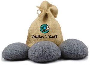 Organic Exfoliating Charcoal Premium Konjac Sponges