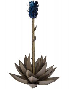 Desert Steel Metal Cactus Tiki Torch