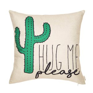 Fjfz Please Hug Me Cactus Funny Pillow
