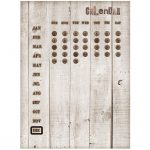 Time Concept Rustic Tin Wall Mounted Magnetic Perpetual Calendar