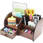 PAG Office Supplies Wood Desk Organizer