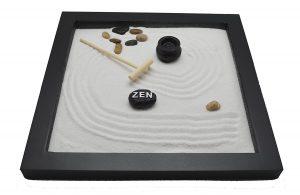 Tatum & Shea Table Top Rocks & Rake Zen Garden