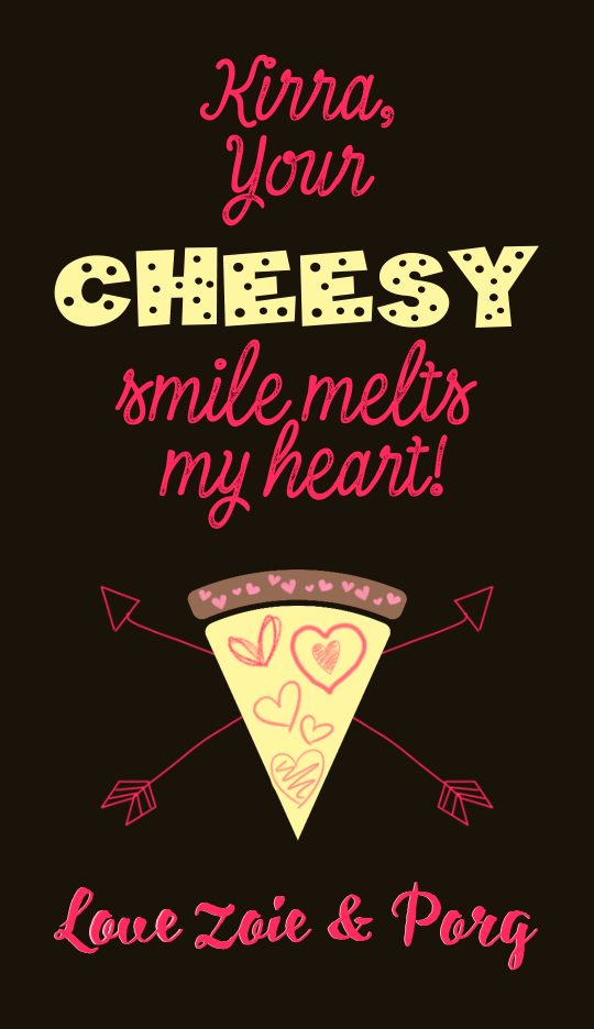 Cheesy Valentine Tags