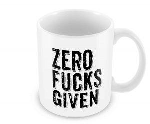 Geek Details Zero Fucks Given Coffee Mug