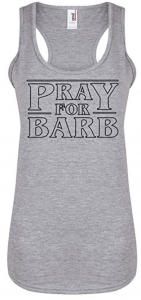 Pray For Barb Racerback