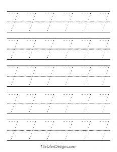 Tracing Number 7 - TSetzlerDesigns