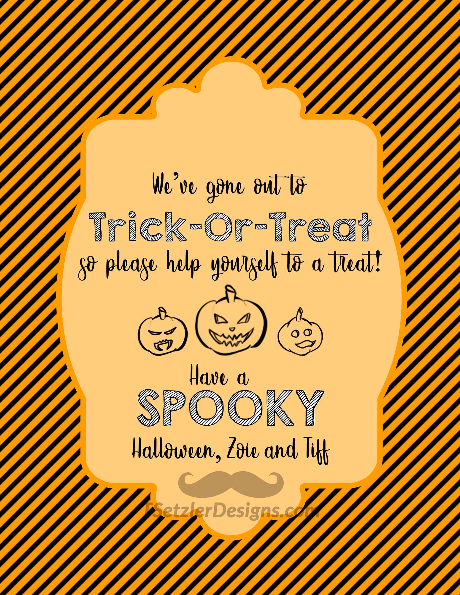 Halloween Treat Sign