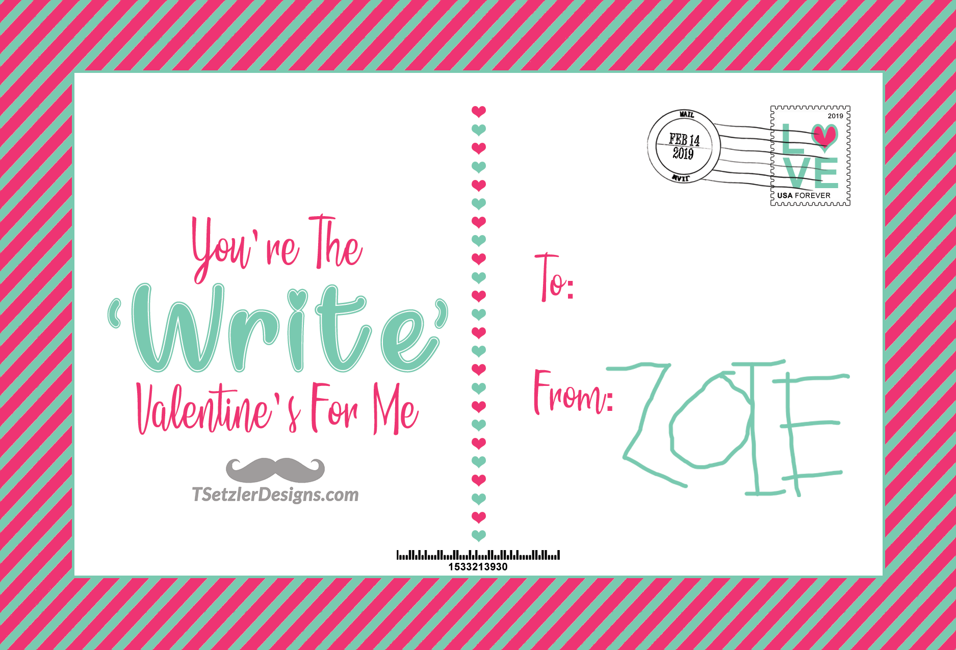 You're The 'Write' Valentine's For Me