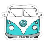 VW Bus Vinyl Sticker