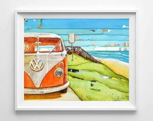 VW home decor painting poster